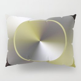 Serene Simple Hub Cap in Sepia Pillow Sham
