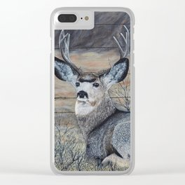 Mule Deer in the Brush Clear iPhone Case