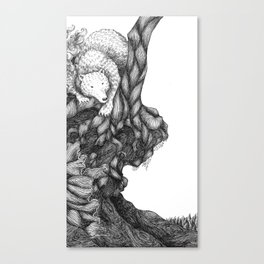 Bear in forest Canvas Print