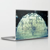 oslo Laptop & iPad Skins featuring Fountain in Oslo by Davide Carnevale