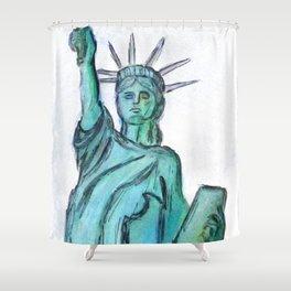 Queen Of Liberty Digital Enhanced Shower Curtain
