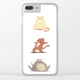 Cats and Yoga Clear iPhone Case