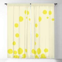 color field - yellow Blackout Curtain