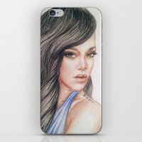rihanna iPhone & iPod Skins featuring RIHANNA by Hileeery