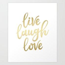 Live Laugh Love II Kunstdrucke