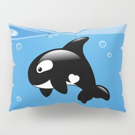 Orca, Cute Killer Whale Pillow Sham