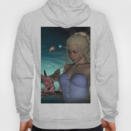 Unicorn women with funny little unicorn piglet Hoody