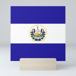 El Salvador flag emblem Mini Art Print