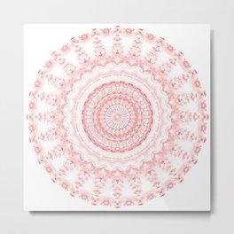 Snowflake #004 transparent Metal Print