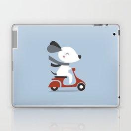 Kawaii Cute Dog Riding A Scooter Laptop & iPad Skin
