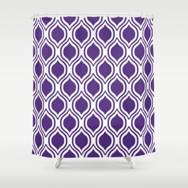 University Sports Clemson Orange And White Ogee Pattern Minimal College  Football Fan Shower Curtain