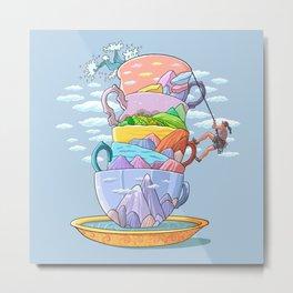 Tea Climber-Surreal-Fantasy Metal Print