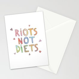 riots not diets  Stationery Cards