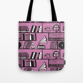 Purple Library Tote Bag