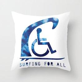 Baesic Surfing For All Tye Dye Throw Pillow