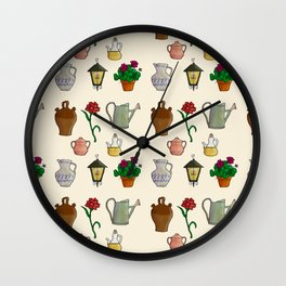 PATIO ANDALUZ Wall Clock
