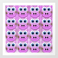 Dirty Little Piggies Art Print