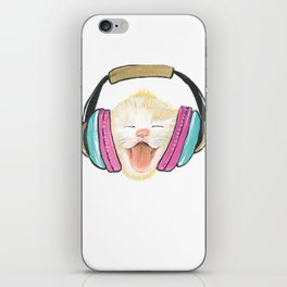 Kitty Tunes iPhone Skin