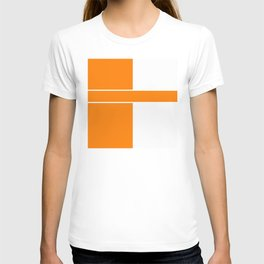 Team Color 6...orange,white T-shirt