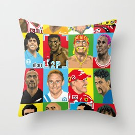 select your athlete Throw Pillow