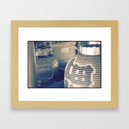 Japan Light - Analogic Photo Artwork Framed Art Print