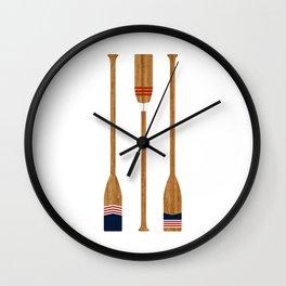 American Painted Oars Wall Clock