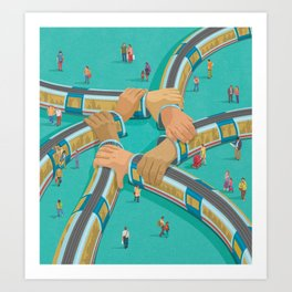 Train link Art Print