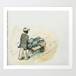 Wheelbarrow man - Cap Haitian Art Print