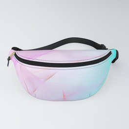 Pastel Motion Vibes - Pink & Turquoise #abstractart #homedecor Fanny Pack