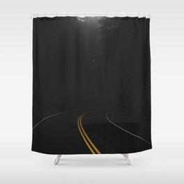 Road Black Yellow Shower Curtain