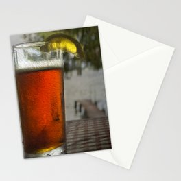 Refreshing Beverages by the Lake Stationery Cards