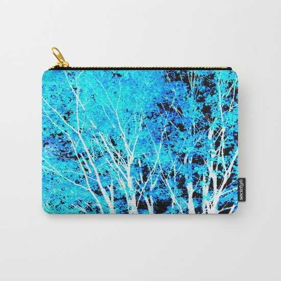 Turquoise Trees Carry-All Pouch