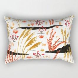 Night Snow illustration by Amanda Laurel Atkins Rectangular Pillow
