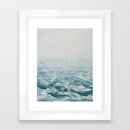 Foggy Seas Framed Art Print