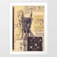 werewolf Art Prints featuring werewolf by Spookfish