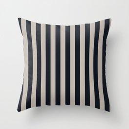 Vertical Stripes Black & Warm Gray Throw Pillow