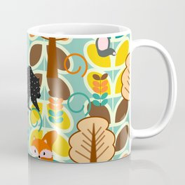 Magical forest with foxes and bears Coffee Mug