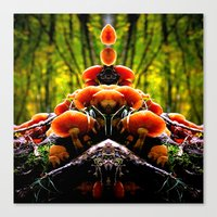 mushrooms Canvas Prints featuring mushrooms by haroulita