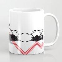 rorschach Mugs featuring Rorschach by Isaak_Rodriguez