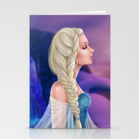 elsa Stationery Cards featuring Elsa by Jolenebydesign