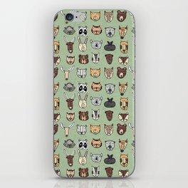 Wild Animal Portraits Green Texture iPhone Skin