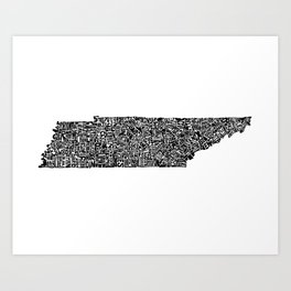 Typographic Tennessee Art Print