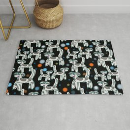 Dogs with spots - In the dark evening Rug