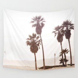 Vintage Summer Palm Trees Wall Tapestry
