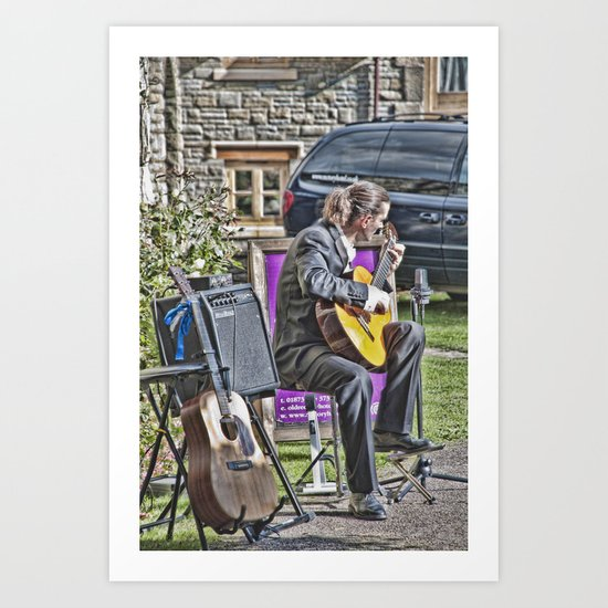 While My Guitar Gently Weeps 2 Art Print