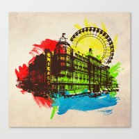 chicago Canvas Prints featuring Chicago by Badamg