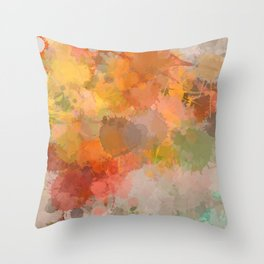 Modern contemporary Yellow Orange Abstract Throw Pillow