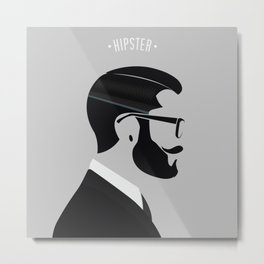 Hipster Men Fashion 1 Metal Print