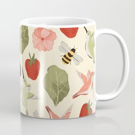 Hummingbirds in the Garden Pattern Coffee Mug