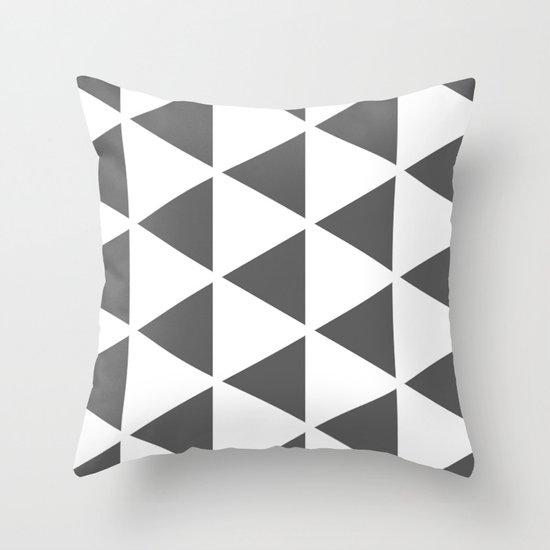 Sleyer Dark Grey on White Pattern Throw Pillow
